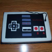 Nes Controller   My 9 year old twin nephews requested an NES controller (Nintendo) cake for their birthday.