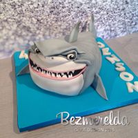 Bruce The Shark Bruce The Shark from Finding Nemo cake