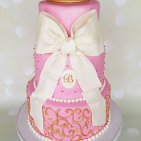 Tiara Baby Shower Cake Pink Tiara baby shower cake.