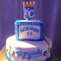 Kansas City Royals Buttercream Cake With Fondant Decorations Kansas City Royals buttercream cake with fondant decorations.