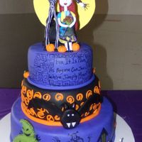 Nightmare Before Christmas   All edible. Gum Paste characters made by hand.