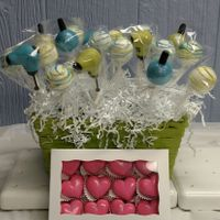 Cake Pops   Hair dryers and Nail polish bottles for a birthday girl