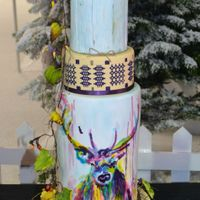 Whimsical Forest Wedding Cake This cake was entered at Cake International and I received a Merit Award. Around the cake there is a cascade of Deadly nightshade flowers,...