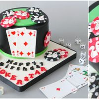 """pokerstar"" Happy Birthday Ace! ☀ Stefan is a total Poker Aficionado so his birthday cake had to reflect his passion for it – I..."