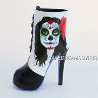 High Heel Sugar Skull Boot My collaboration to the Sugar Skull Bakers 2015.