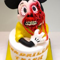 Mickey Gore Mickey gore cake for Disney Trash Party