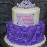 Little Princess Cake A lovely little girl's birthday cake who loves the color purple and tiaras.