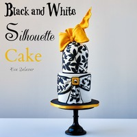 Black And White Silhoutte Cake  Black and White Silhouette Cake is one of the cakes that you could learn in my new Class. This is so elegant and perfect for any occasion....