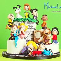 """The Peanuts Gang"" Sugar Collaboration Here is my piece for ""The Peanuts Gang"" Sugar Collaboration.All made with SWEETART SUGARPASTE.The figures all modelled..."