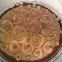 Caramel Apple Rose Pie got this from a you tube video here
