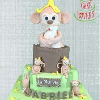 Monkey Themed Cake I just made this cake for my sons 1st birthday