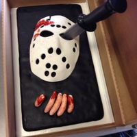 Friday The 13Th Birthday Cake I made this for a 7 year old's birthday, whose birthday happened to fall on a Friday the 13th. The cake is a 9x13 covered in black...