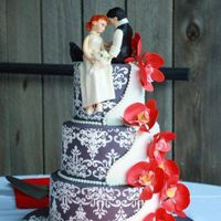 Forevermore All edible wedding cake from topper to cake and flowers. The bride who wanted this cake emailed me with all the details that she wanted for...