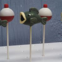 Cake Pops   Fish and fishing bobber cake pops