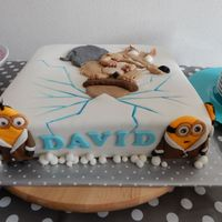 Ice Age Arctic Minion Cake... My first combined theme cake for my sons 7th birthday...