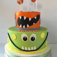Monster Cake Monster cake with cake balls.