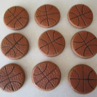 Basketball Cookies Soft gingerbread cookies textured with very thin layer of fondant which was colored with red, yellow and brown.Textured by using a rolling...
