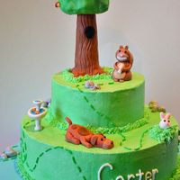 "Scaredy Squirrel Scaredy squirrel cake with his acorn tree home and the ""dangers"" he sees below!"