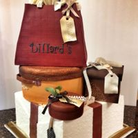 Crazy Shopping Cake For a lady who likes shopping