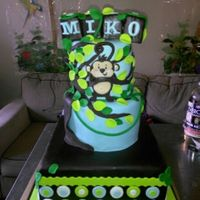 Monkey Theme Baby Shower Baby shower cake