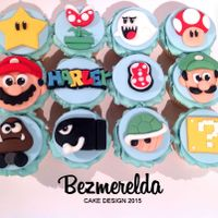 Mario Themed Cupcakes Mario, Luigi and friends themed cupcakes