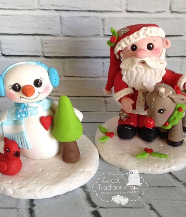 Frosty, Santa And Rudolph Toppers