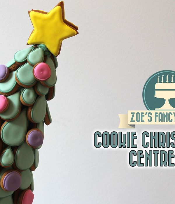 Christmas Tree Cookie Centrepiece