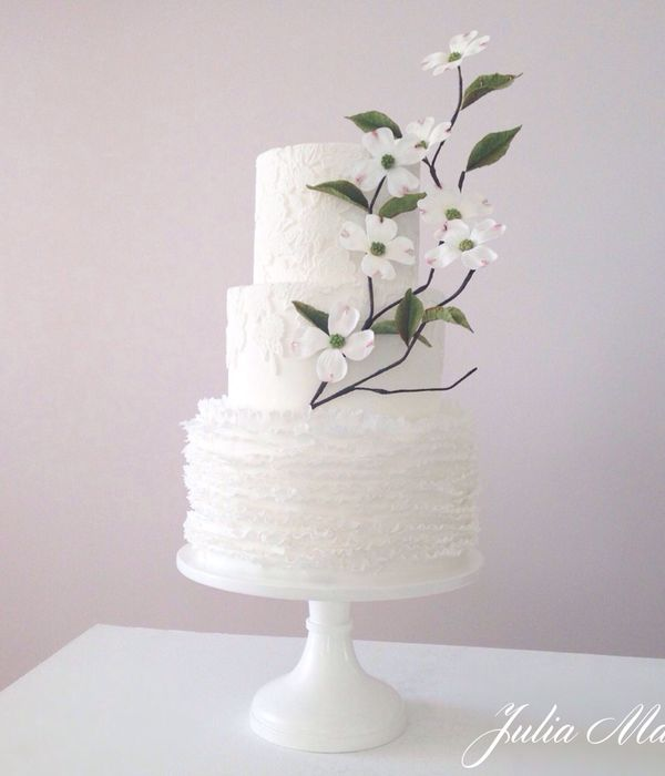 A White Wedding With Dogwood Blossoms