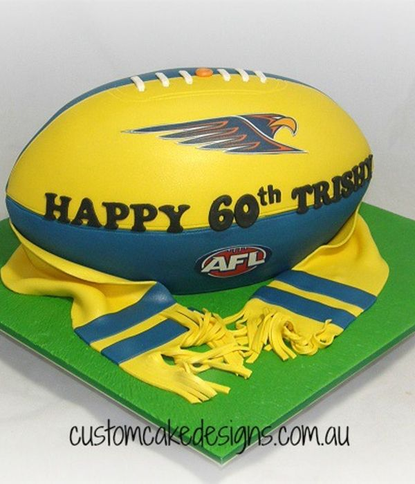 West Coast Eagles Football Cake