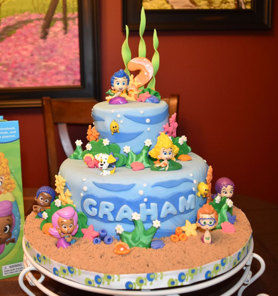 Terrific Bubble Guppies For Grahams 2Nd Birthday Cakecentral Com Funny Birthday Cards Online Alyptdamsfinfo