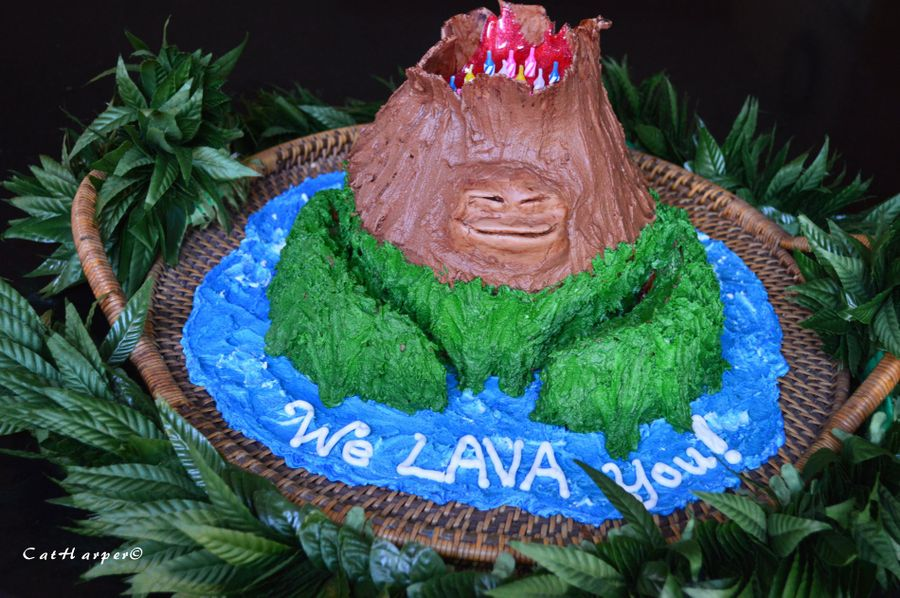 Lava Birthday Cake on Cake Central