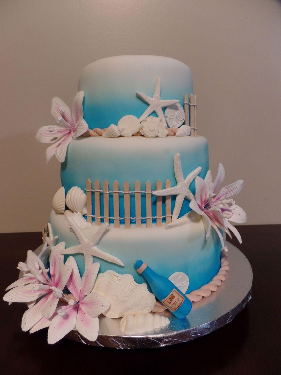 Beach wedding cake cakecentral beach wedding cake on cake central junglespirit Gallery