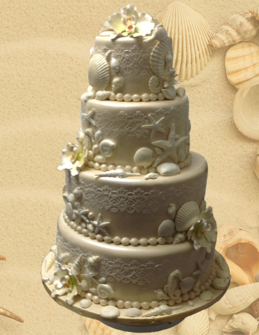 Edible Cake Images Trinidad : Elegant Sea Themed Cake - CakeCentral.com