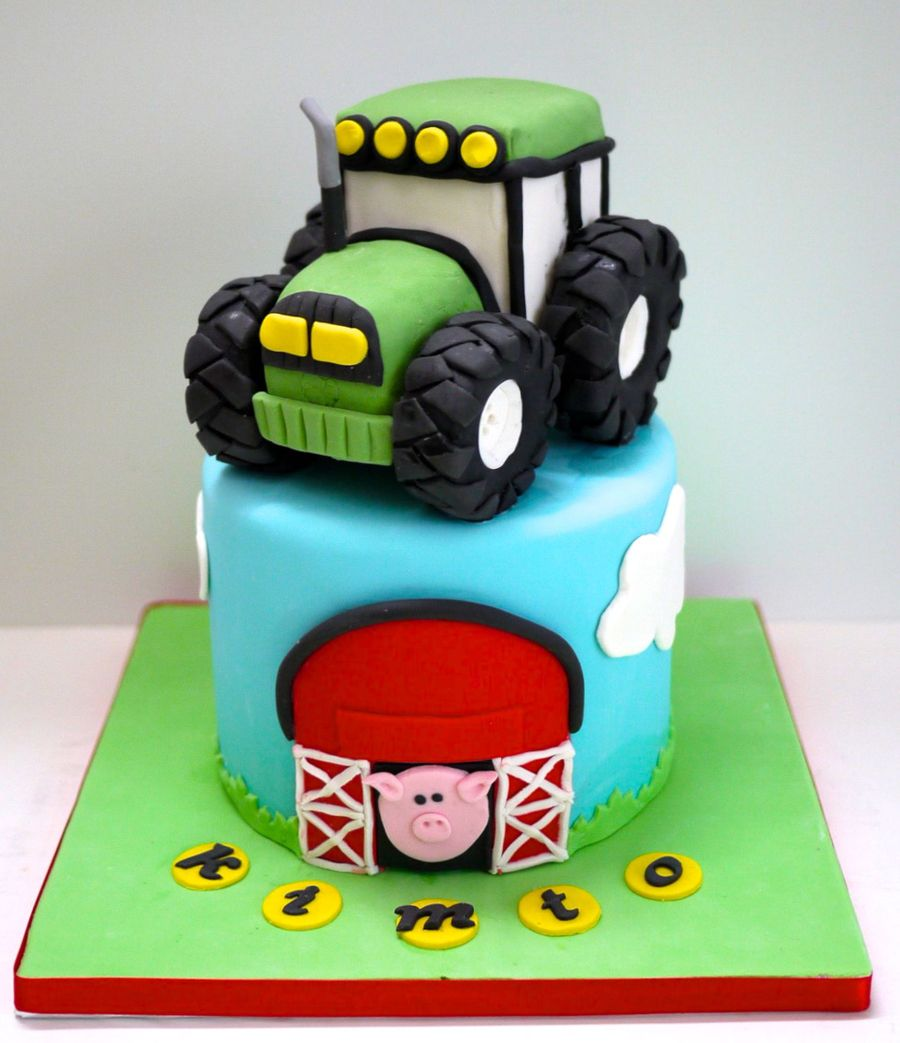Tractor Cake Decorating : Tractor cake cakecentral