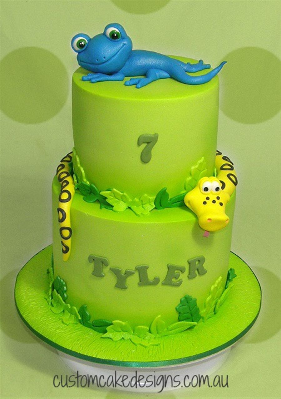 Lizard And Snake Cake Cakecentral Com