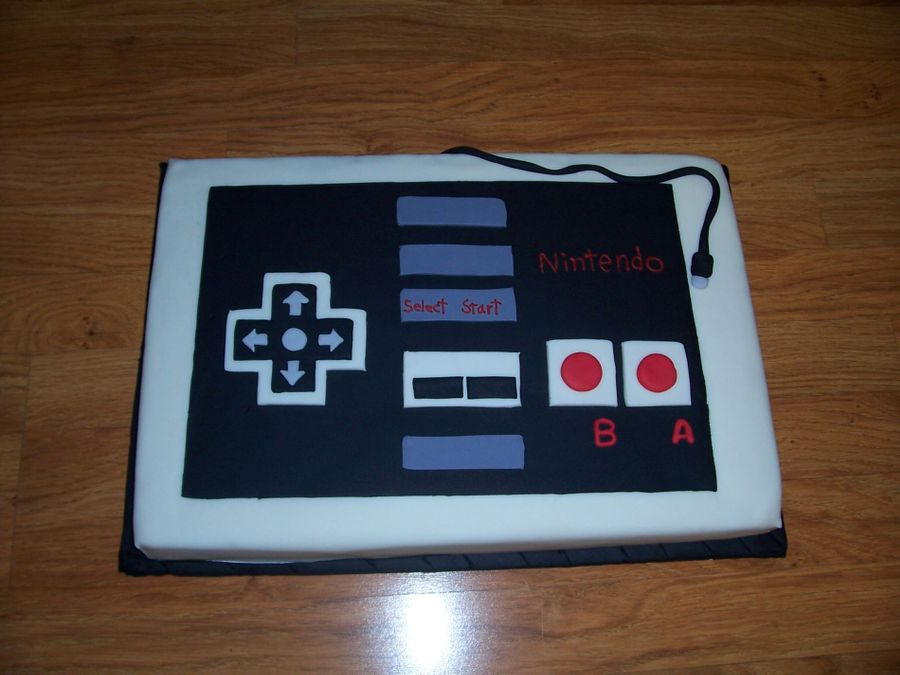 Nes Controller on Cake Central