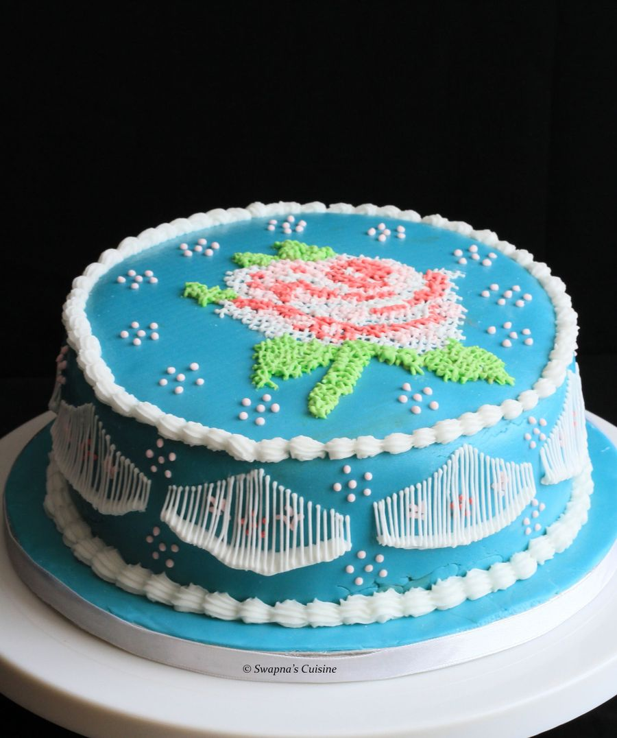 Cross Stitch Cake Decorating