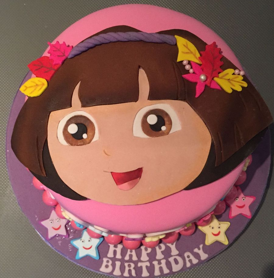 Prime Dora The Explorer Birthday Cake Cakecentral Com Personalised Birthday Cards Veneteletsinfo