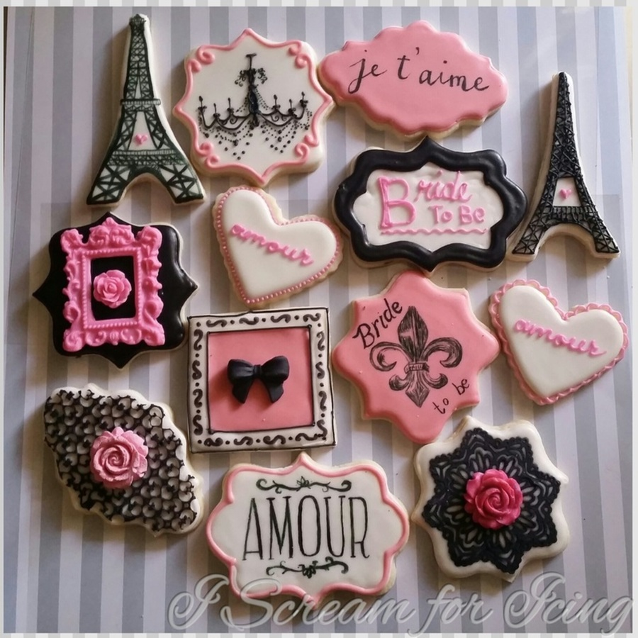 parisian bridal shower cookies on cake central
