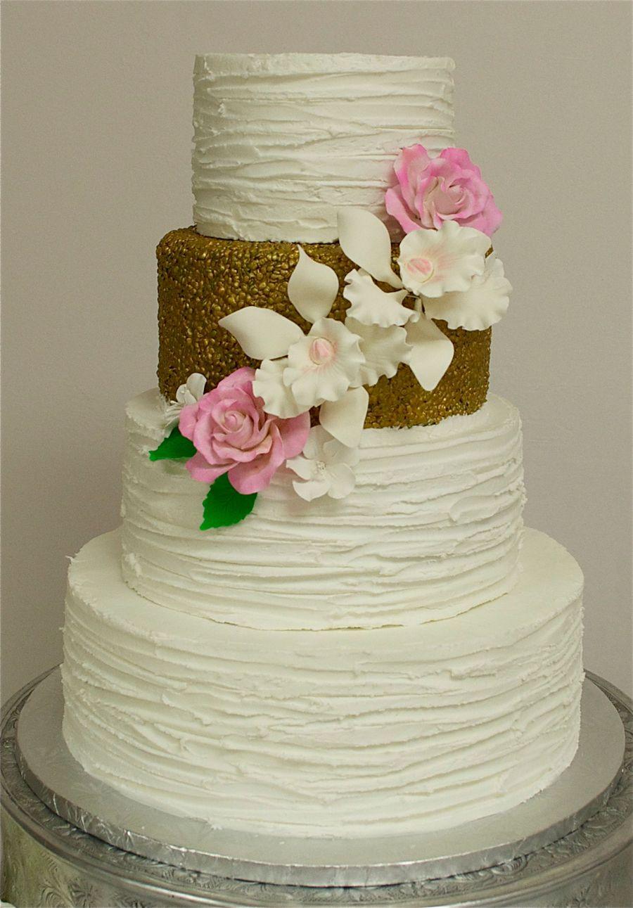 Simple Textured Wedding Cakes