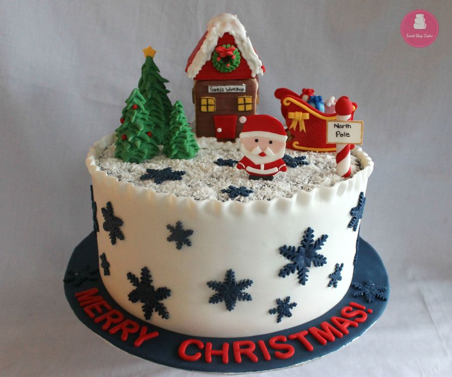 Christmas Themed Cake Decorations