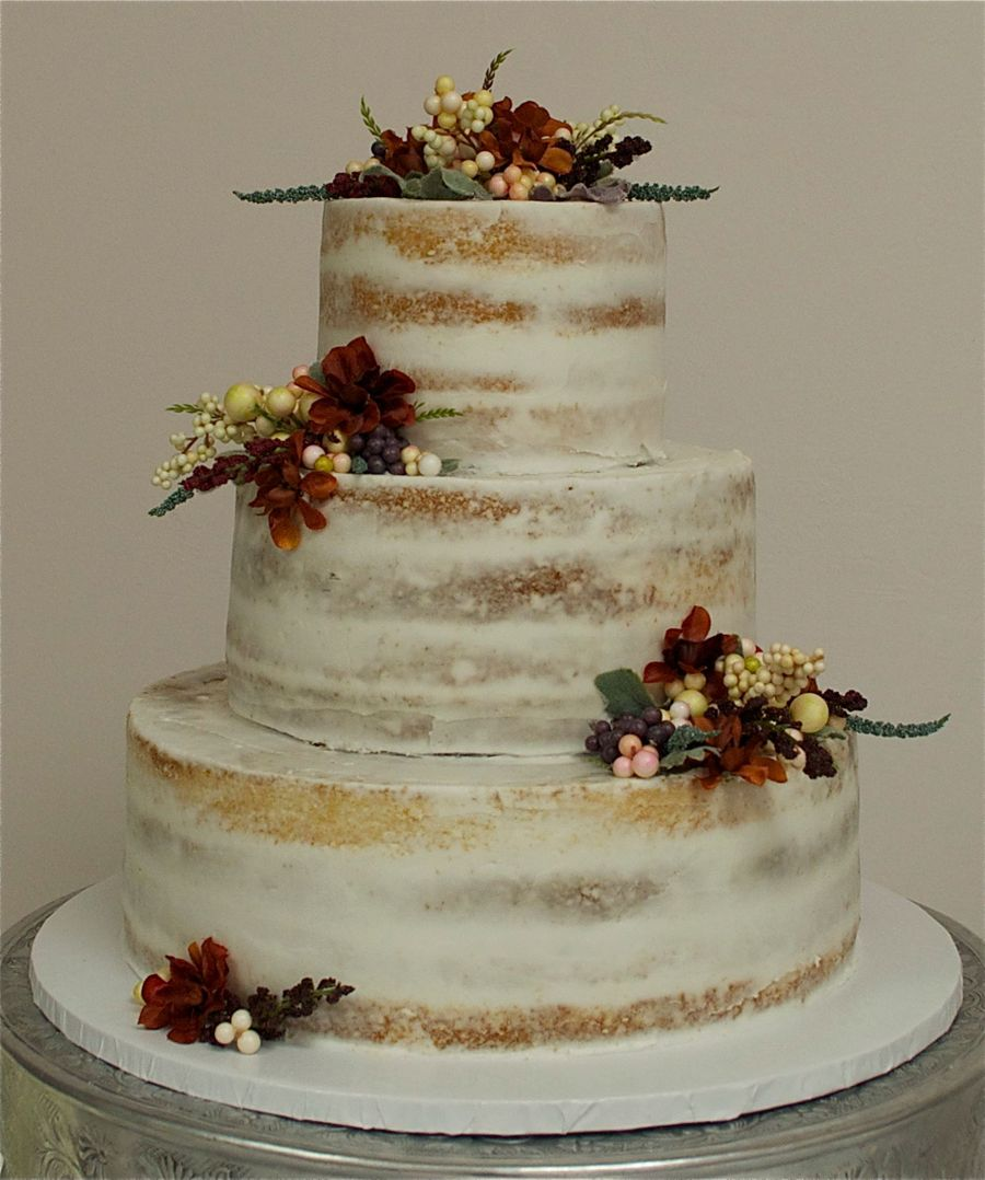 Semi Naked Wedding Cake Cakecentral Com