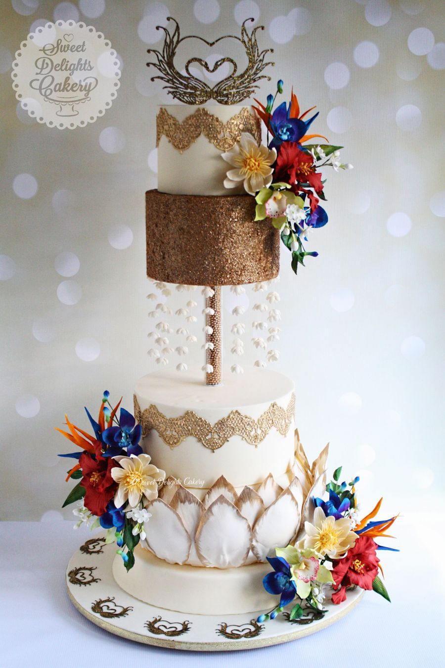 Tropical Wedding Cake - CakeCentral.com