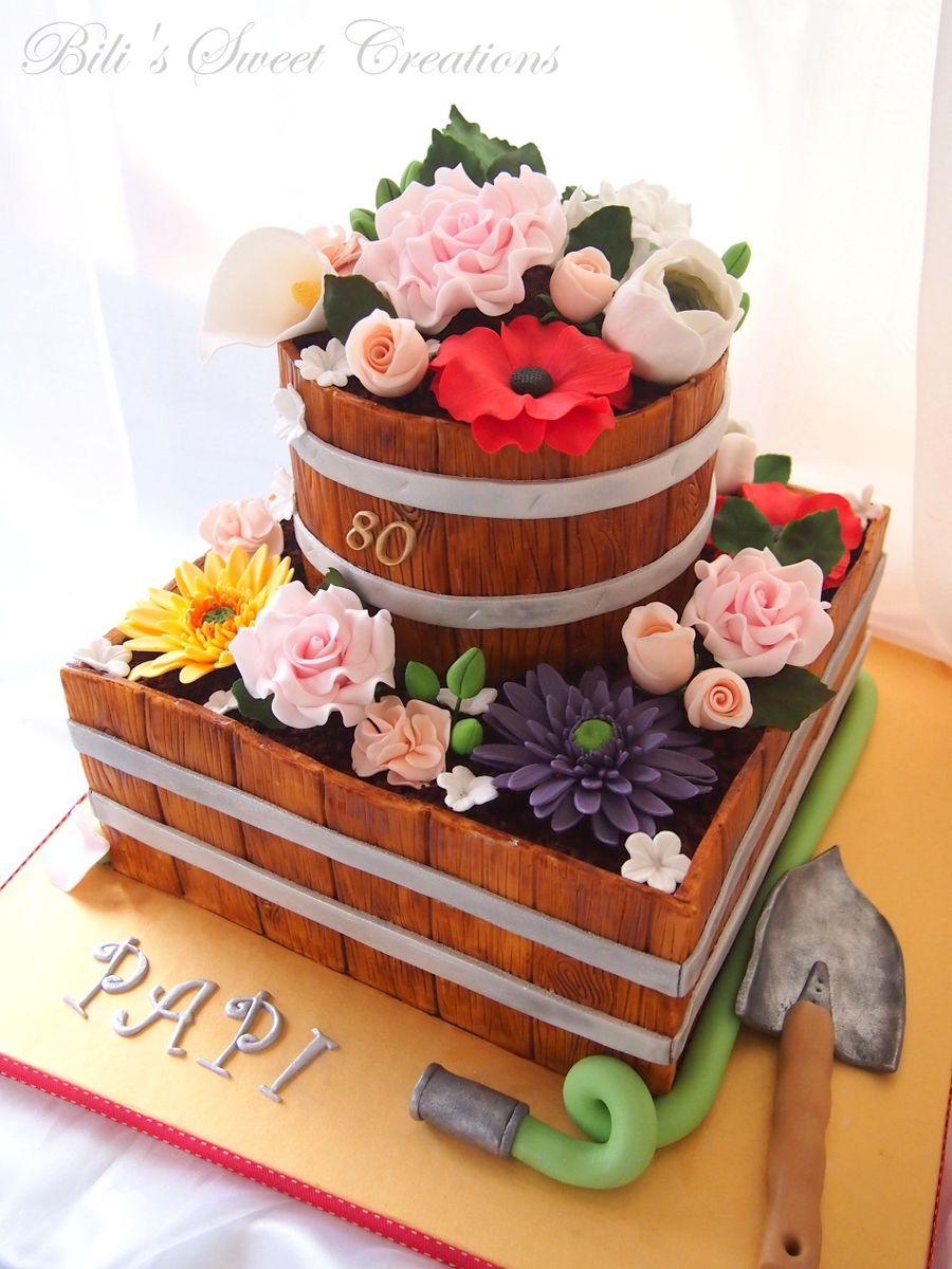 How To Make A Cake Shaped Like A Flower Pot