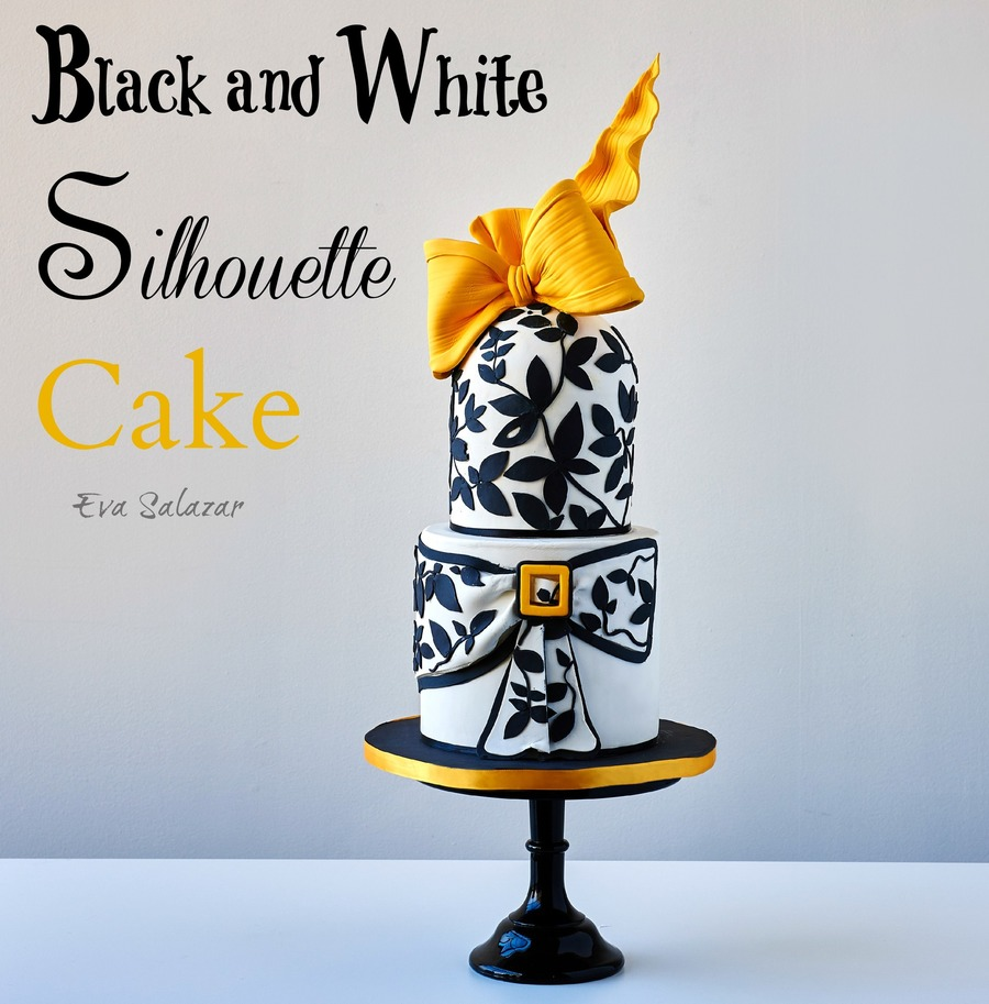 Black And White Silhoutte Cake on Cake Central