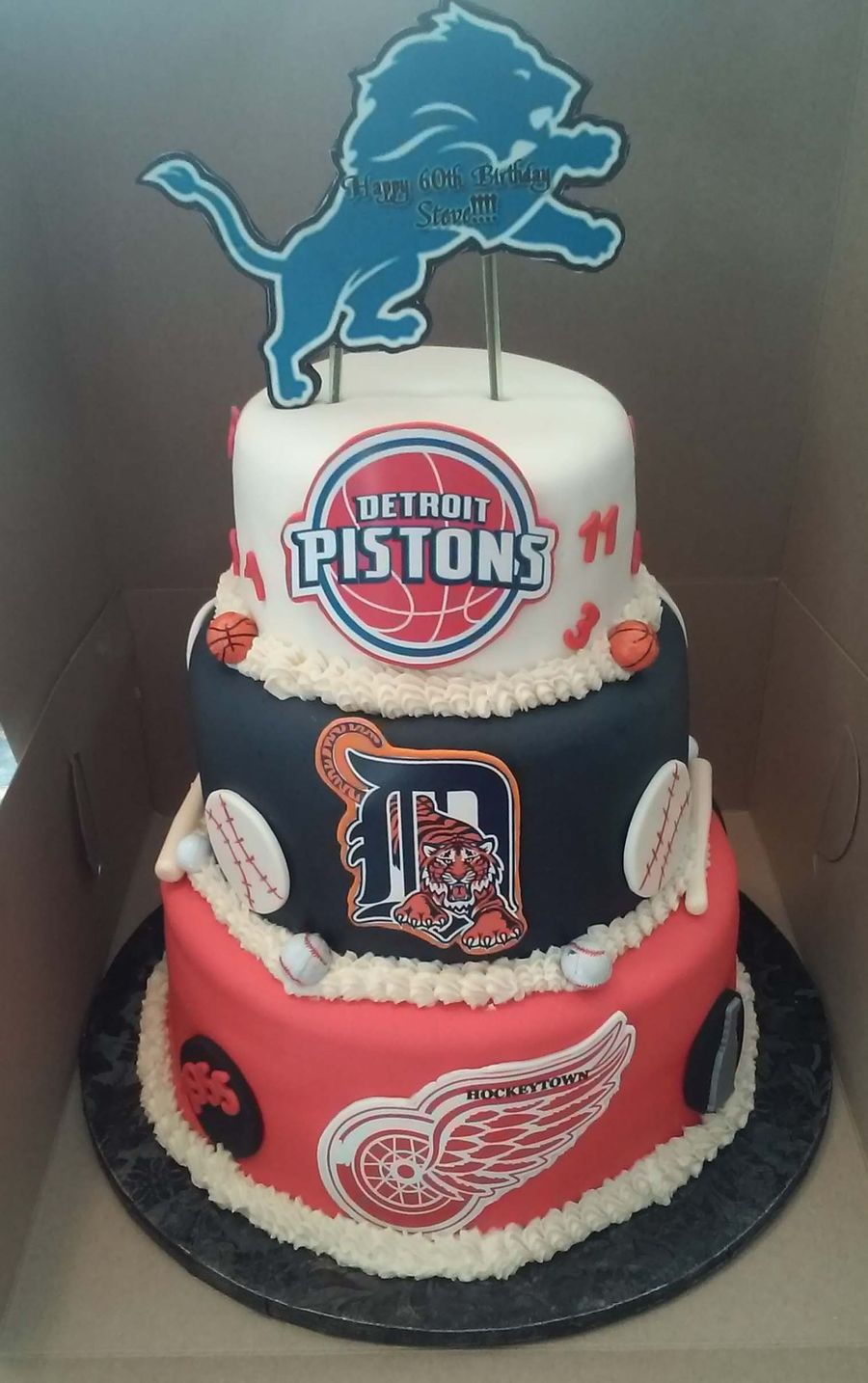 Baby Shower Cakes Detroit ~ Detroit sports birthday cakes bing images