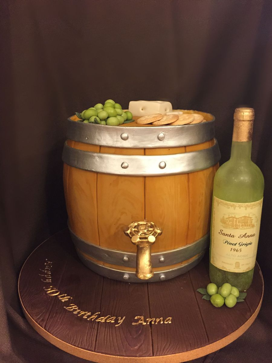 Wine Barrel 50Th Birthday Cake On Central