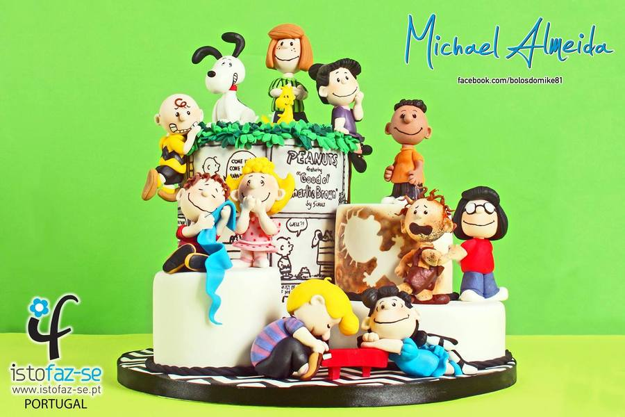 """The Peanuts Gang"" Sugar Collaboration on Cake Central"