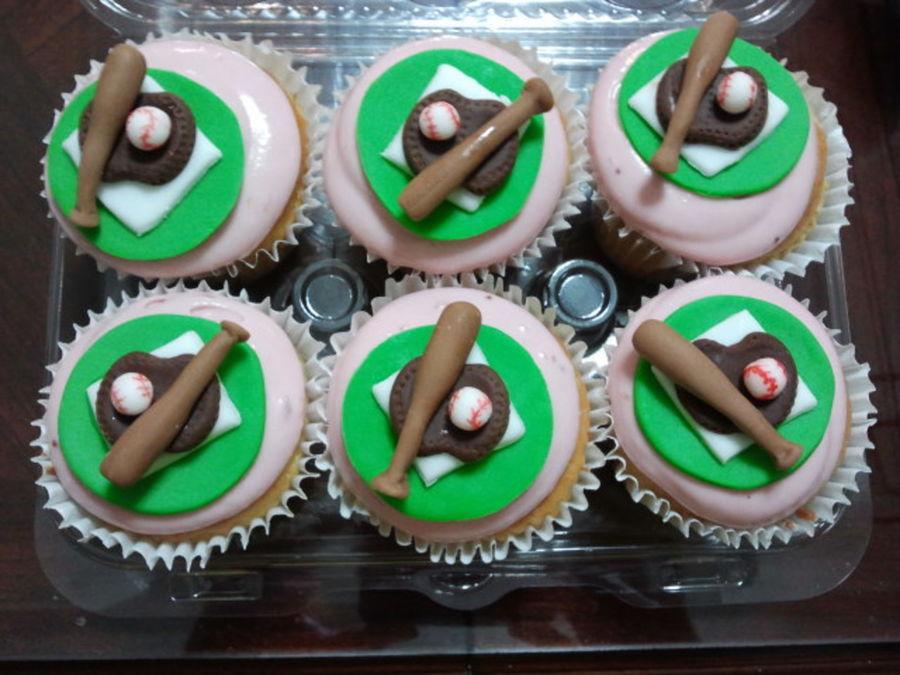 Baseball Theme Cupcakes CakeCentralcom