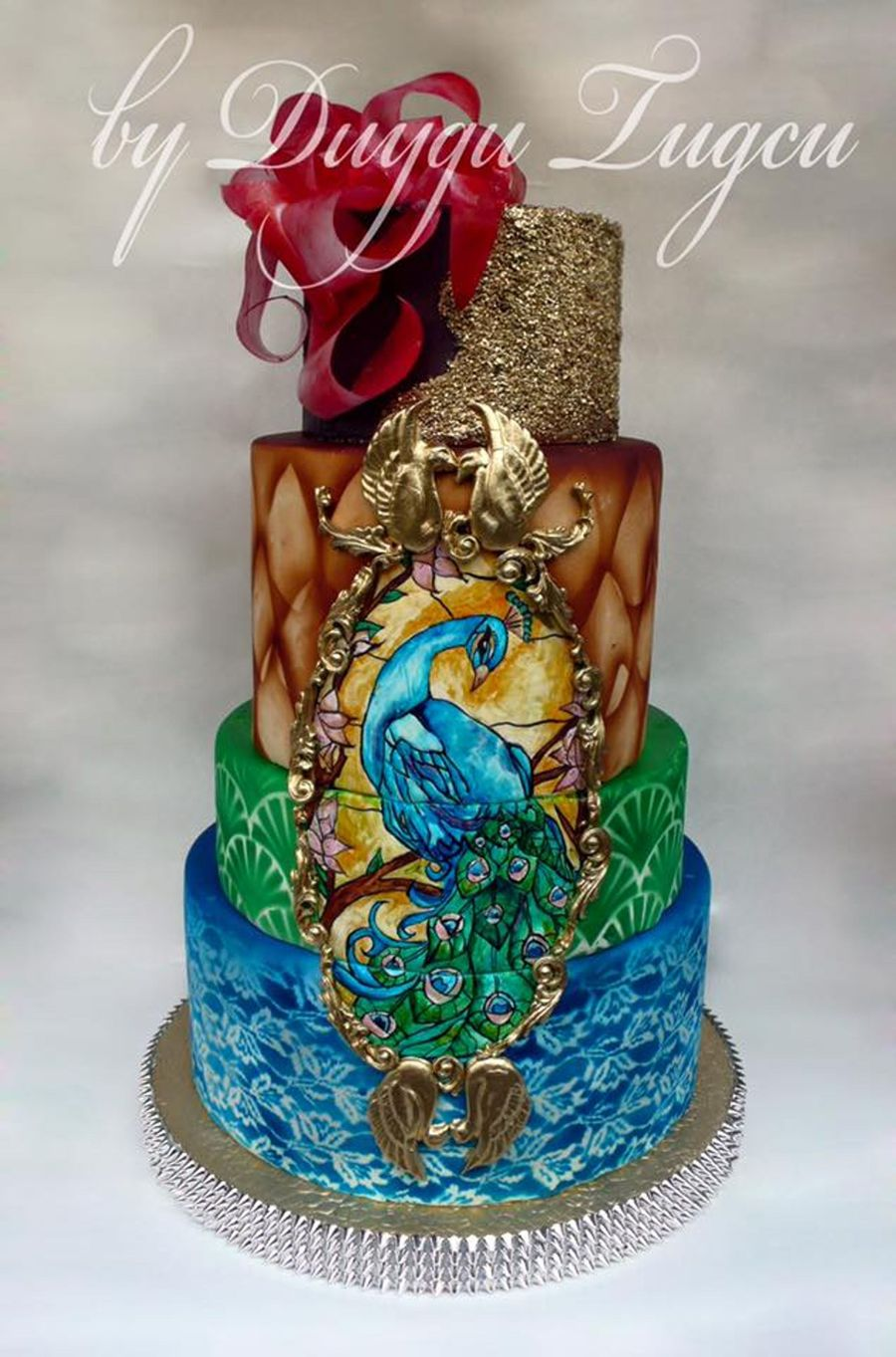 Cake Art Techniques : Peacock Cake - CakeCentral.com